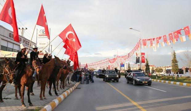 Cumhurbaşkanı Erdoğan'a sürpriz karşılama!