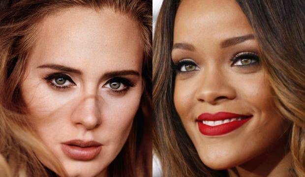 Adele: Rihannanın nefes kesici güzelliği vardı