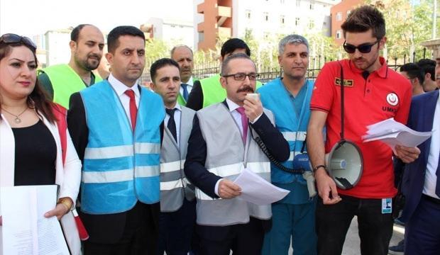 Siirt'te hastanede deprem tatbikatı
