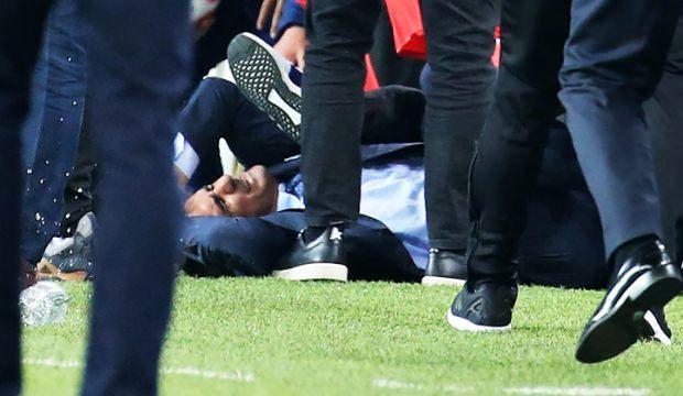 Futbol rezaleti! Utanç verici görüntüler...