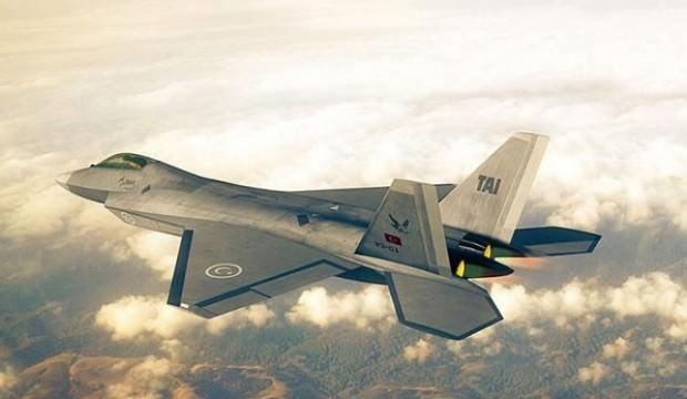 Milli savaş uçağı dev fuarda göründü