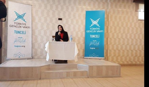 Zeynep Alkış Tunceli'de gençlerle buluştu