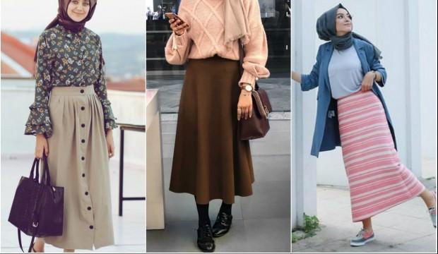 ce3334a9f4f8b Uzun etek nasıl giyilir? Tesettürlü kadınların vazgeçilmez parçalarından ...