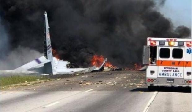 ABD'de askeri uçak düştü: 5 asker öldü