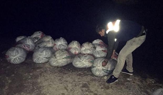 Çuvallar içerisinde 2 ton ele geçirildi!