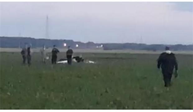 Sırbistan'da uçak düştü