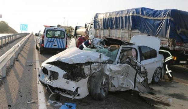 Manisa'da kaza: 1 ölü 3 yaralı