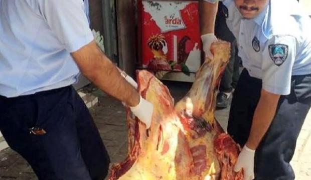 Suruç'ta 170 kilo bozuk et ele geçti