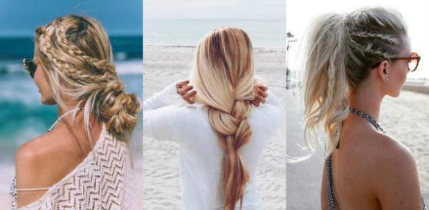 2018 plaj saç modası