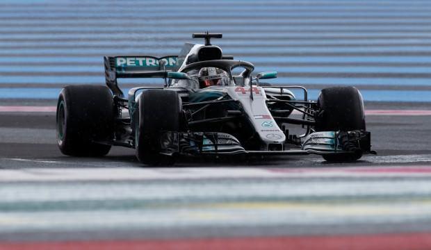 Fransa'da pole pozisyonu Hamilton'un!