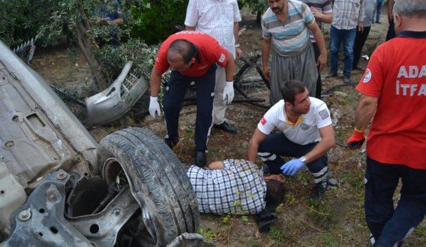 Kozan'da feci kaza: 1 yaralı
