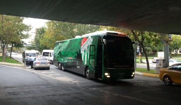 Bursaspor'un otobüsüne haciz geldi