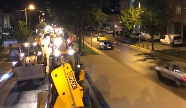 Güneykayalılar Erdoğan'ı iş makineleriyle kutladı!