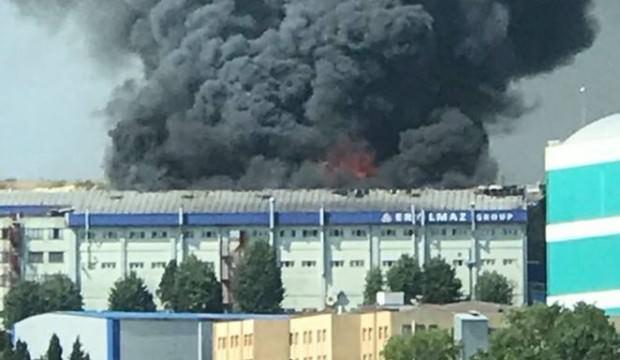 5 bin metrekarelik tekstil fabrikasında yangın!