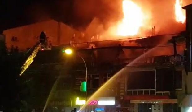 Konya'da kafede korkutan yangın