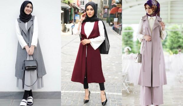 207bf2a15d2ed Tesettürlü kadınlar için yelek kombinleri - Moda Haberleri