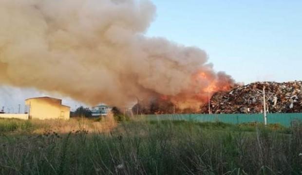 Fabrika'da yangın: Çok sayıda ekip bölgede