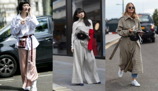 """85655a5525bf2 """"salaş kıyafet kombinleri"""". Trend bel çanta modelleri ve kullanma şekli"""