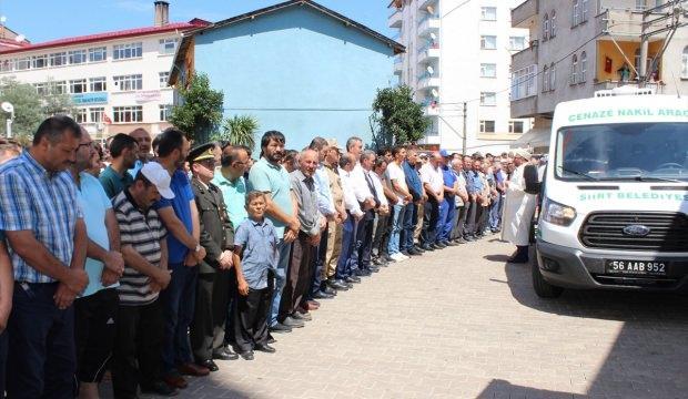 Siirt'te kaza yapan uzman onbaşı toprağa verildi