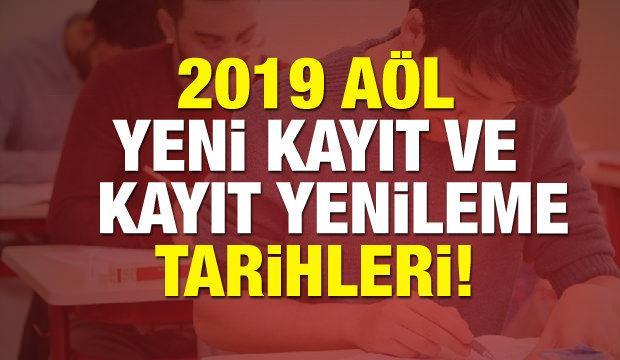 2018 AÖL (Açıköğretim Lisesi) kayıt ve kayıt yenilemesi tarihleri!