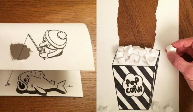 Karikatürleri canlandıran yetenekli sanatçı