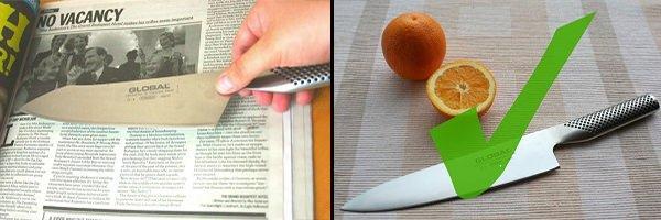 Gazete ile bıçak nasıl bilenir?