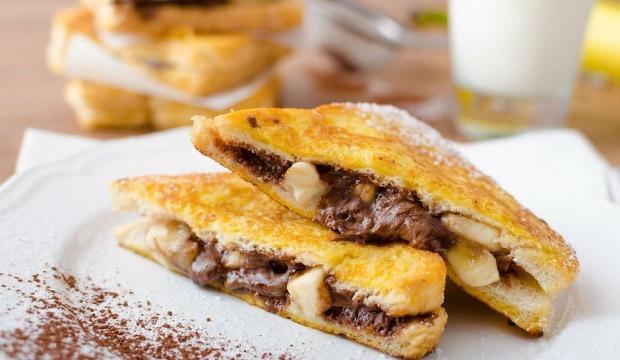 Muzlu çikolatalı Fransız tostu tarifi