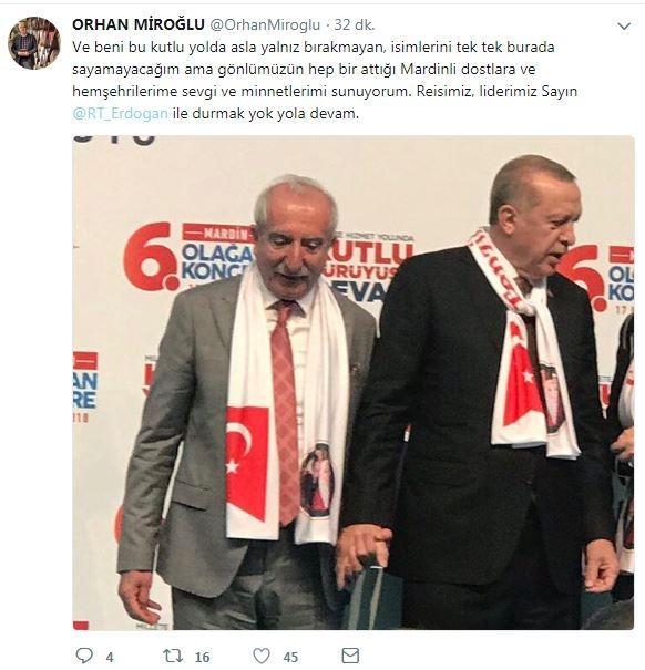 Orhan Miroğlu bu fotoğrafla duyurdu