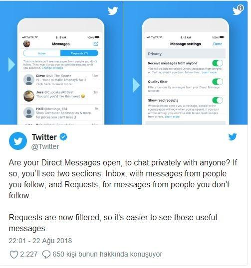 Twitter has new features in private messages!