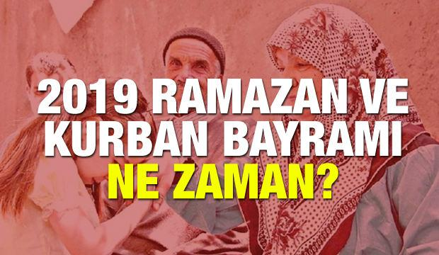 Ramazan ve Kurban Bayramı ne zaman? Önümüzdeki yıl 9 gün tatil var mı?