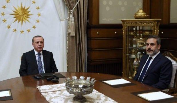 Başkan Erdoğan, Hakan Fidan ile görüştü
