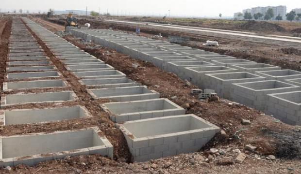 Defnedilmeye hazır iki katlı 10 bin mezar...