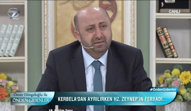 Ömer Döngeloğlu Kerbela'yı anlatırken gözyaşlarına boğuldu
