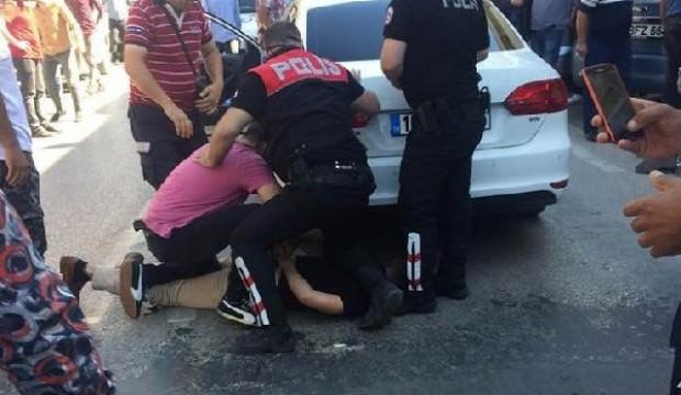 Çarptığı kadını dövüp kaçan sürücü böyle yakalandı