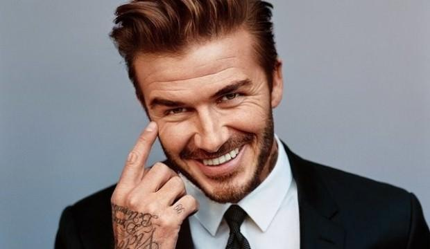 David Beckham'ın saçları dikkat çekti