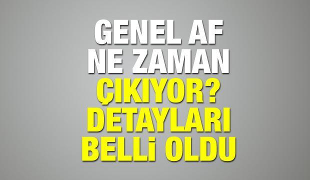 Genel Af ne zaman çıkacak? Cumhurbaşkanı Erdoğan af açıklaması yaptı!
