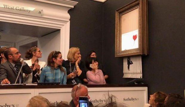 1 milyon sterline satılan tablo kendini imha etti