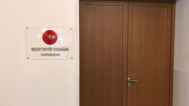 O oda Erdoğan'a tahsis edildi…
