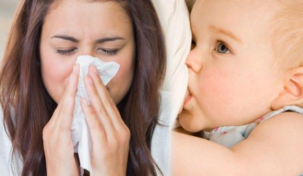 Grip olan anneler bebek emzirebilir mi?