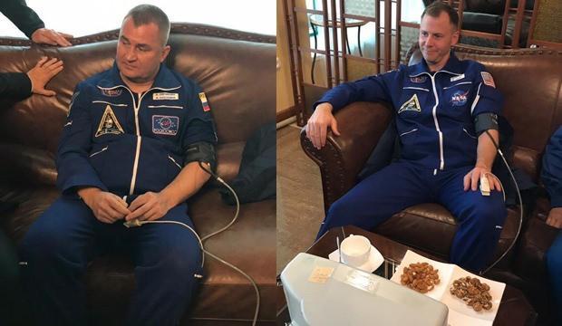 Rus ve Amerikalı astronotlar kurtarıldı. Sağlık durumları iyi