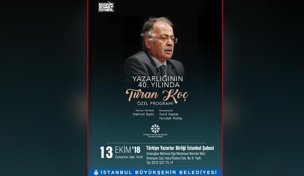 TYB'den Turan Koç'a özel program!