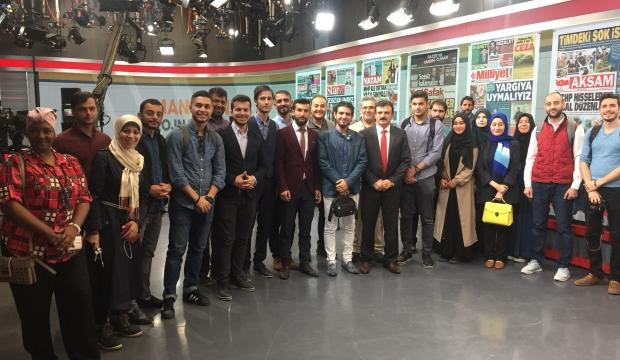 UMED Akademisi öğrencilerinden TRT'ye ziyaret