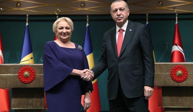 Erdoğan ile Dancila basın toplantısı düzenledi