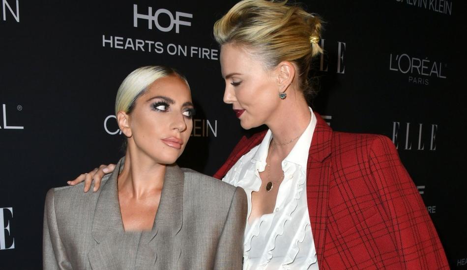 Hollywood'ta Lady Gaga Charlize Theron fırtınası
