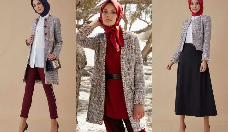 Tesettürde 'Tüvit ceket' modelleri