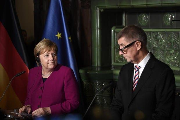 Almanya Başbakanı Angela Merkel ve Çekya Başbakanı Andrej Babis...