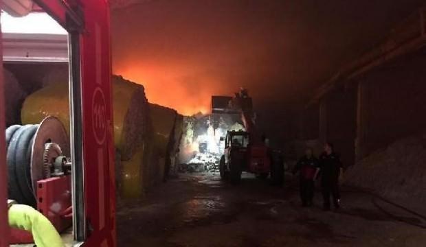 Aydın'da çırçır fabrikasında yangın
