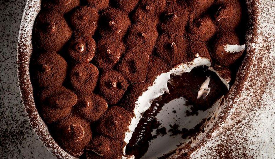 Çikolatalı tiramisu pie tarifi