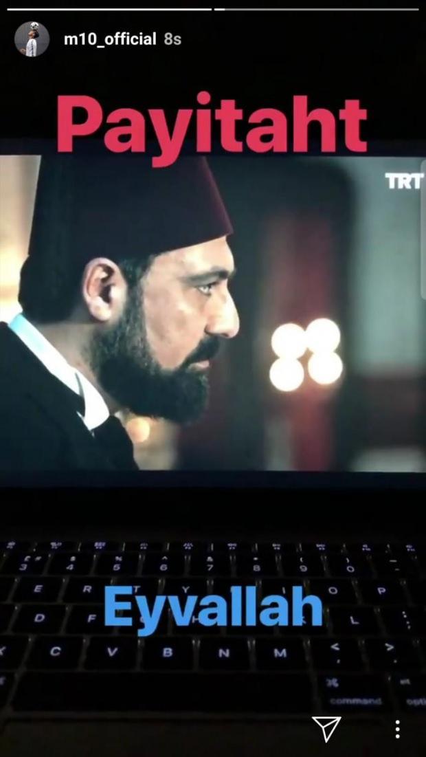 Mesut Özil'den 'Payitaht Abdülhamid'li mesaj…