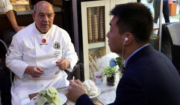 """""""Maraş dondurması""""nın hikayesi Çin Merkezi Televizyonu'nda"""